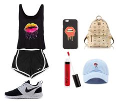 """""""Untitled #120"""" by karleydavis63 ❤ liked on Polyvore featuring Missguided, NIKE, MCM, Boots No7 and Forever 21"""