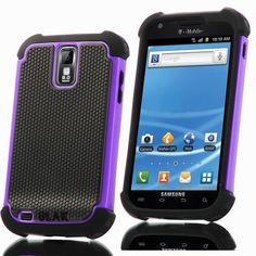 Pandamimi ULAK Purple Hybrid Rugged Rubber Matte Hard Case For Samsung Galaxy S2 II T989 with free Screen Protect... - List price: $12.99 Price: $2.50