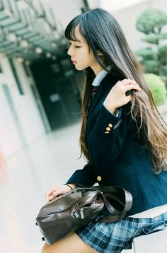 Cute Girl School Girl Japan, Japan Girl, Cute School Uniforms, School Uniform Girls, Girls Uniforms, Mode Ulzzang, Ulzzang Girl, Beautiful Japanese Girl, Beautiful Asian Girls