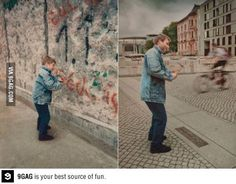 Berlin Wall - then, and now.