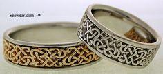 Celtic band rings Eternal Heart Knot