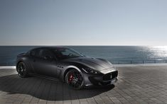 Matte black Maserati Gran Turismo. ____________________________ #PACKAIR -- THE NAME TO TRUST FOR ALL INTERNATIONAL & DOMESTIC MOVES! Call 310-337-9993 or visit www.packair.com for a free quote today!
