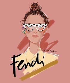 Fruit Logo, Digital Illustration, Fendi, Iphone Wallpaper, Backgrounds, Runway, Dots, Illustrations, Glasses