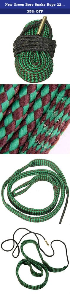 New Green Bore Snake Rope 22 Cal 5.56mm 223 Caliber Hunting Gun Accessories Gun. Product Specifications: The boresnake consist of : BORE BRUSH : embedded in the cord loosens hard deposits. FIRST FLOSS AREA : removes foreign particles prior to the scrubbing action of the brush. MAIN FLOSS AREA : with 160 times more surface area than a patch, cleans like no other product. BRASS WEIGHT : slips easily through barrel. Grasp and pull cleaning cord through bore. Caliber or gauge is stamped into…