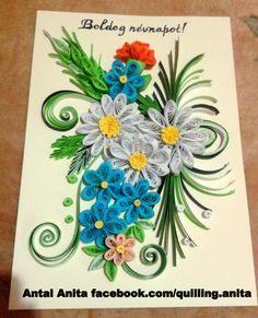 quilling flower Sample: quilling Ada kvilling virág minta: by quilling Ada