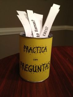 """Introducingmy""""PRÁCTICAcon PREGUNTAS"""" can. It's a great way for students to practice asking & answering questions in the target language."""