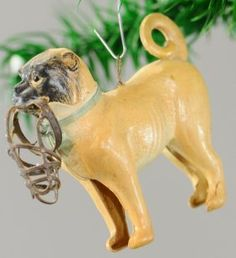 German Dresden pug ornament