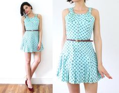 vintage 50s Rare Mad Men Bloomer Romper Faux Mini by CocoandMillie, $58.00