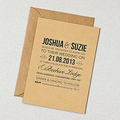 Rustic Style Wedding Invitation Wedding Stationery Brown Envelope And Design Black Fonts Simple Creations Weddings Invitation Amazing Gallery Of Weddings Invitation Wedding Invitation Design
