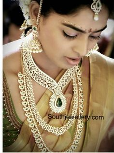 bride in diamond jewellery pinned by wedding accessories and gifts specialists http://destinationweddingboutique.com