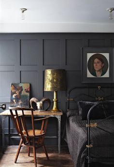 """Panelling in """"Railing"""" by Farrow and Ball-10 Beautiful Rooms - Mad About The House"""
