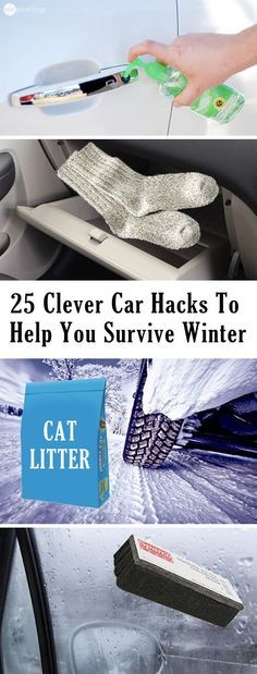 25 Clever Car Hacks To Help You Survive Winter - Winter Driving & Car Care Tips  #Etsy #Danahm1975 #Jewelry