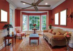 Interior Wall Colors, Best Interior Paint, Interior Design, Bay Window Decor, Bay Window Living Room, Windows Decor, Window View, Living Room Furniture Layout, Living Room Interior