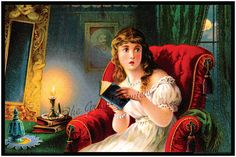 That Scary Book By Candle Light Print by TheGrandReview on Etsy