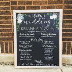 Wedding Chalkboard Signage Program