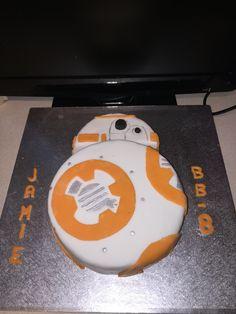 BB-8 birthday cake #starwars #forceawakens