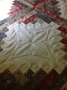 Quilted by Renee Sauve of Log Cabin Quilter I like this, simple but elegant