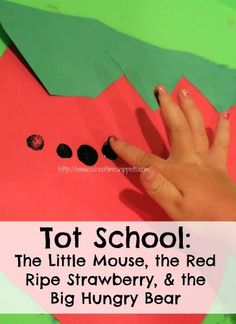 Activities for The Little Mouse, the Red Ripe Strawberry, & the Big Hungry Bear by Don and Audrey Wood -  Strawberry Pre-Writing Activity for Tracing or Cutting - Where is the Strawberry? Math Game - Strawberry Shapes