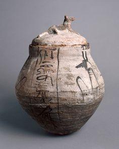 Shawabty jar with lid, Egypt, 1295-1069 BC