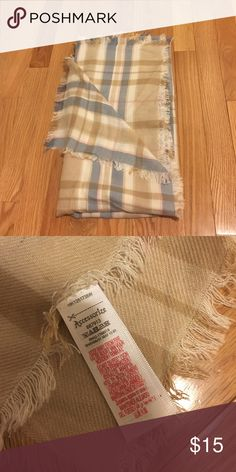 Plaid scarf with fringe Never worn. 100% acrylic. Accessorize brand from lord and taylor Lord & Taylor Accessories Scarves & Wraps