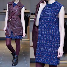 : Кожаный жилет McQ by Alexander McQueen. Платье KENZO. Колготки @calzedonia_dag  Обувь Ballin.