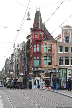 Amsterdam, Leidsestraat. Lots of shopping and a more scenic than the Kalverstraat!