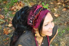 Hippie Headband, CUSTOM for YOU, Festival Clothing, Headband, Dreadband, Dread Wrap, Dreadlocks, Intergalactic Apparel