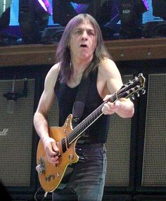 Malcolm Young ACDC guitarists using Lectrosonics Wireless