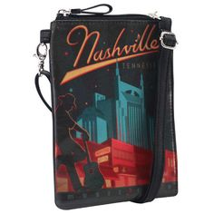 Cross-body Phone Bag - Broadway Music City – Alicia Klein - Taxi Wallet - OWLrecycled