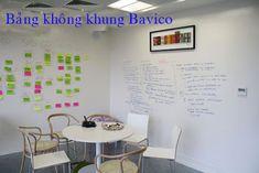 Bảng Kính Bavico: Bảng trắng viết bút lông từ Ceramic dán tường - Sả...