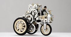 Steam-powered Stirling-engine toy car kit