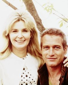 "Joanne Woodward + Paul Newman  A reporter for ""Life"" magazine asked them how they'd stayed happily married for 40 years--to which Joanne cheekily responded ""it's all about the sex.""  Hah!"