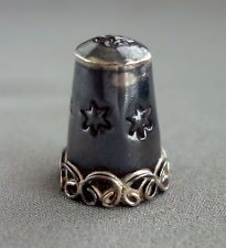 Vintage Mexico Sterling Silver Decorative Sewing THIMBLE 7.6g;D676