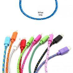 10ft Braided Lightning Cable for iPhone 5/5c/5s & iPad 4