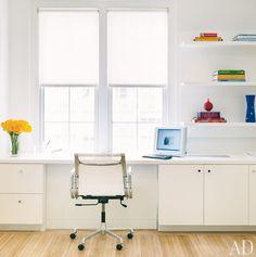 white work area