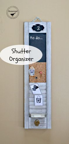 Turn an old shutter into a multipurpose organizer