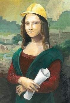 The Mona Lisa does construction!