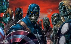 Iron Man Comics Captain America Wolverine Marvel Zombies Joe Madureira HD Wallpaper Desktop Background