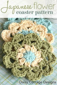 Japanese Flower Motif Crochet Pattern by Daisy Cottage Designs - Teresa Restegui-