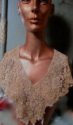 Vintage Victorian tan lace over tulle with marqisitebeads Bridal wear Historic Costume Great Vintage condition strong fibers by taffnie on Etsy https://www.etsy.com/listing/266655232/vintage-victorian-tan-lace-over-tulle
