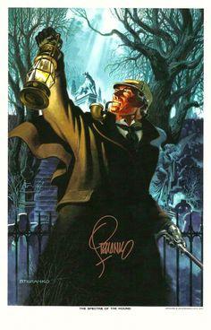 Jim Steranko SIGNED Art Print Sherlock Holmes Hound of the Baskervilles Revenge | eBay