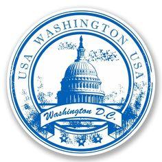 2 X Washington D. Vinyl Sticker Laptop Travel Luggage Car luggage 2 x Washington D. Grunge, Washington Usa, Travel Stamp, Passport Stamps, Tumblr Stickers, Vintage Stamps, Custom Stamps, Home Logo, Printable Stickers