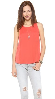 swingy coral top on sale // shopbop