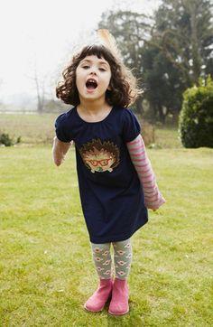 Mini Boden Appliqué Layered Sleeve Dress (Toddler Girls, Little Girls & Big Girls) | Nordstrom