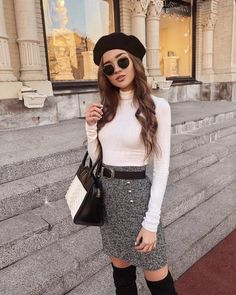 MORE PICTS You can also see more ideas about girly outfits asian , simple girly outfits , sweet girly outfits , girly outfits modest , girly. Paris Outfits, Winter Fashion Outfits, Mode Outfits, Girly Outfits, Classy Outfits, Look Fashion, Skirt Fashion, Stylish Outfits, Fall Outfits