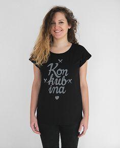 Koszulka czarna - Konkubina - RUNO Manufaktura