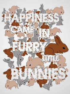 "pixelsinthewild:    White space bunny play (""Happiness came in furry little bunnies""), by Enrique J. Alvarado, via Six Word Story Every Day"