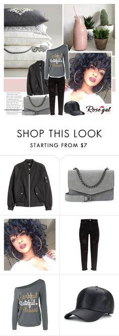 """""""Black and Grey outfit / Rosegal"""" by pinki1994 ❤ liked on Polyvore featuring black, bag, sporty, rosegal and Fashion2017"""