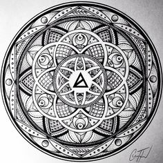 Most Popular Image of 2014. Artwork by @glennlthomson | AWAK3N x Glenn Thomson Collection Coming Jan '15 #sacredgeometry #awak3n #mandala
