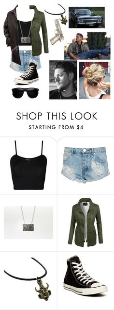 """""""Genderbent dean winchester"""" by gglloyd ❤ liked on Polyvore featuring WearAll, OneTeaspoon, LE3NO, Converse and ZeroUV"""